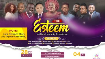 The Esteem Live Worship Concert The Virtual Edition set for February 28, 2021